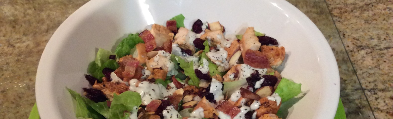 Buffalo Chicken Salad with Bacon & Blue Cheese Dressing