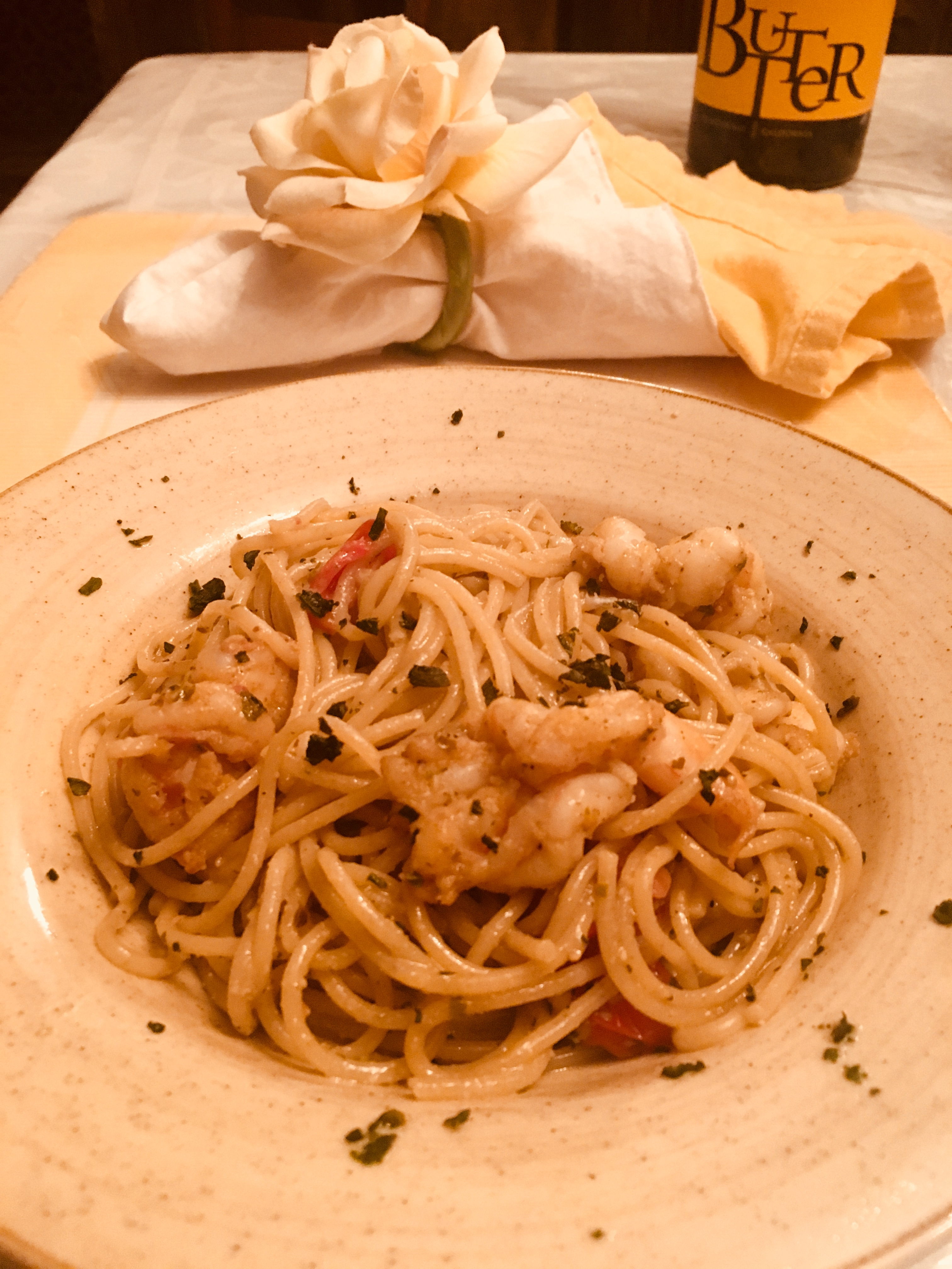 Shrimp Pasta with Pesto Sauce